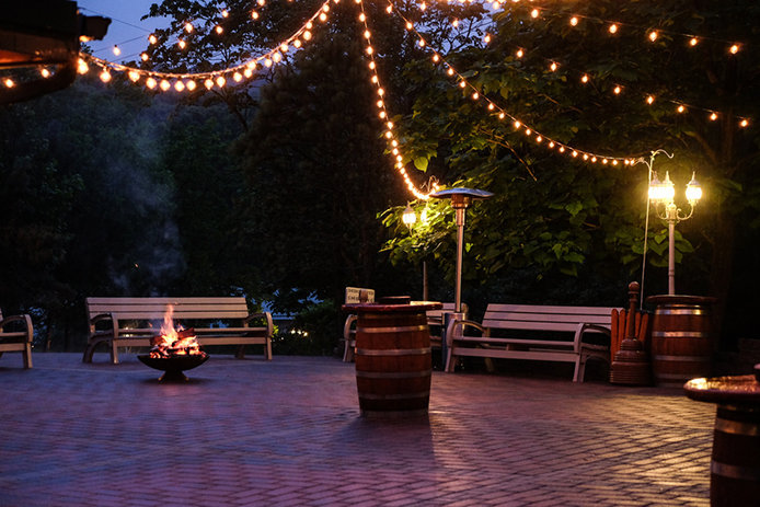 Outdoor E With Patio Lights